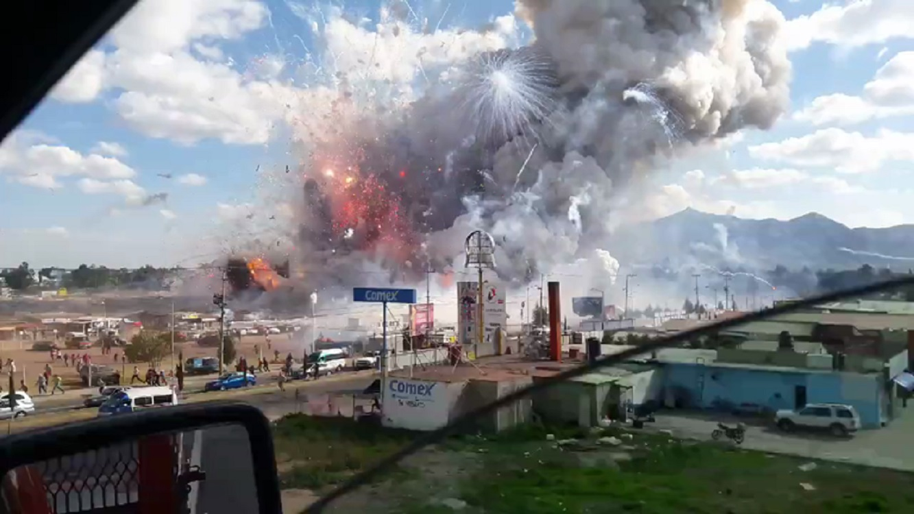 Video Shows Massive Fireworks Factory Explosion in Mexico
