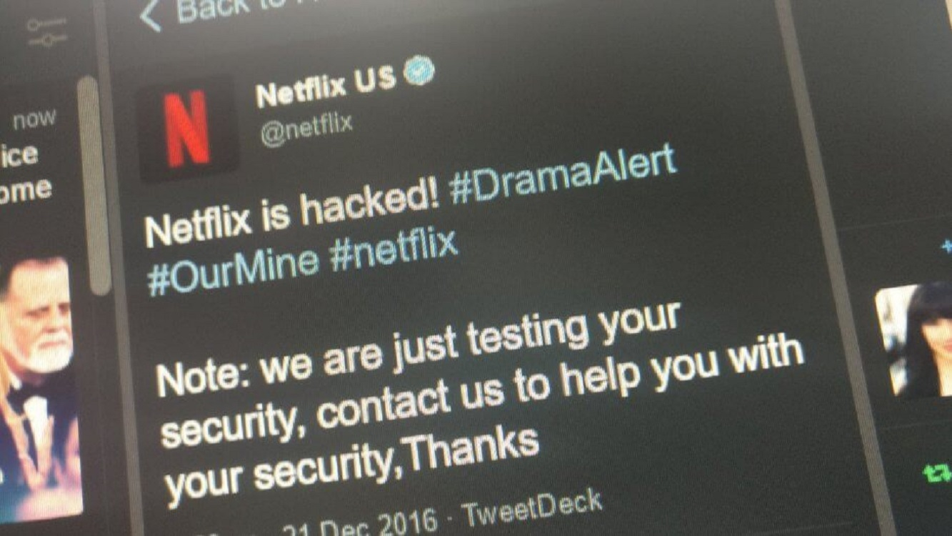 Netflix Twitter Account Hacked by OurMine